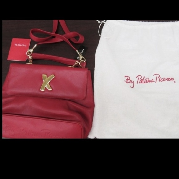 Paloma Picasso Handbags - NWT Paloma Picasso Italy Lipstick Red Leather Bag